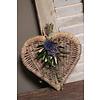 Cadeauset met rattan hart en toef