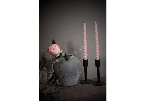 Set van 2 dinerkaarsen 'Swirl' Blossom
