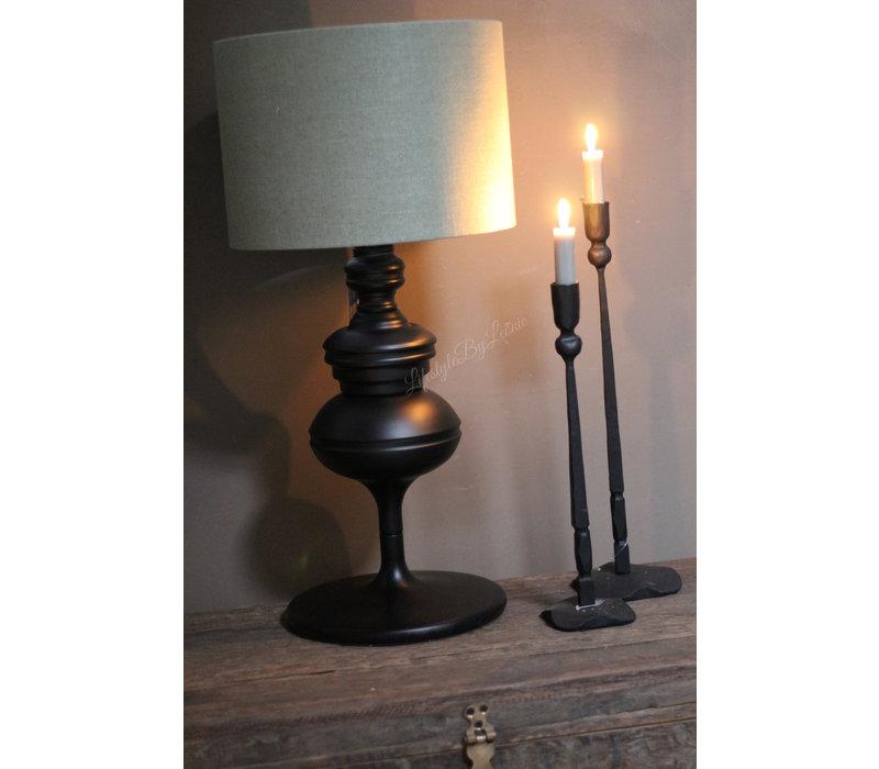 Zwarte sierlijke bol lampvoet 46 cm