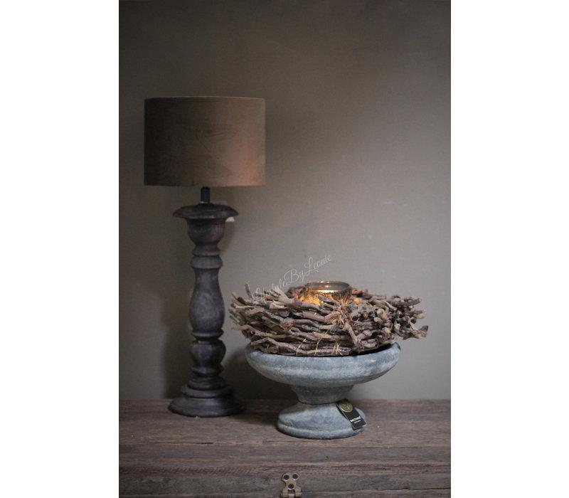 Smalle lampvoet Antraciet 35 cm