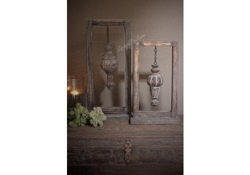 Houten frame incl houten ornament 50cmH