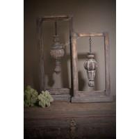 Houten frame met houten ornament 50 cm