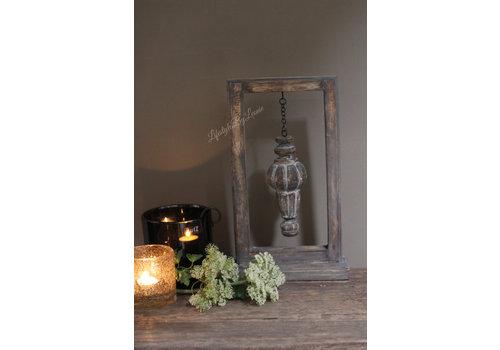 Houten frame incl houten ornament 40cmH