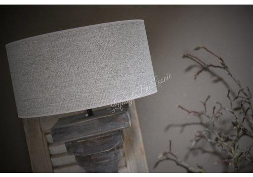Cilinder lampenkap Ruw linnen light grey 40cm