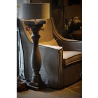 Cilinder lampenkap ruw linnen Light grey 40 cm