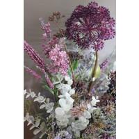 Zijden Distel tak purple 68 cm