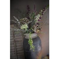 Zijden Hortensia tak sober green/purple