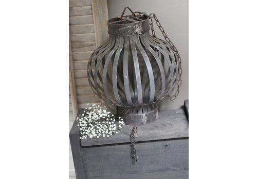 Metalen kooi hanglamp Old silver 40cm
