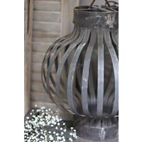 Metalen kooi hanglamp Old silver 40 cm