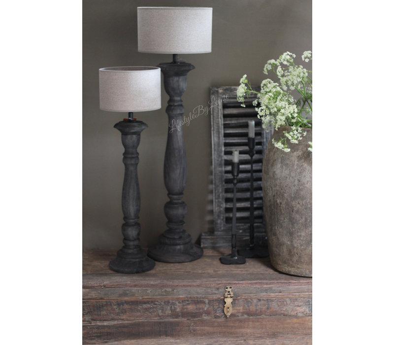 Hoge smalle lampvoet Antraciet 70 cm