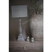Cilinder lampenkap Stonewashed grey 30 cm