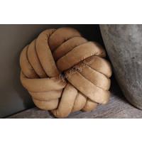 Velvet kussen Knot caramel 33 cm