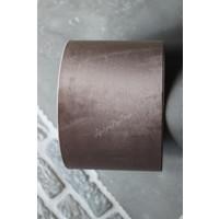 Velvet cilinder lampenkap Chocolat 25 cm