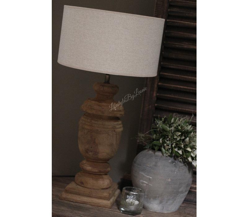 Cilinder lampenkap ruw linnen Nude 30 cm