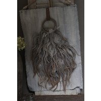 Wand kalkdoek grote toef wol grey wash