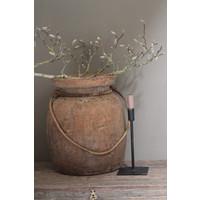 Authentieke Himachal houten kruik touw  XXL