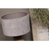 Velours cilinder lampenkap Klei 25 cm