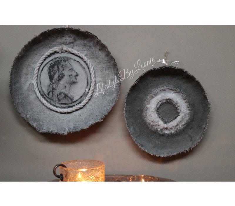 Jute kalk wanddecoratie Keizer 40 cm