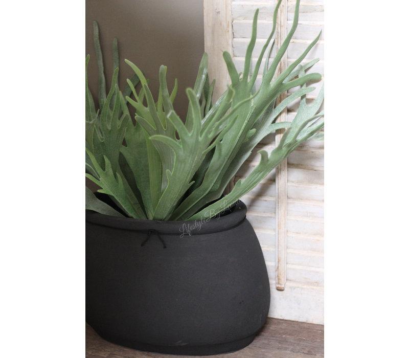 Ovale pot Classy black XXL