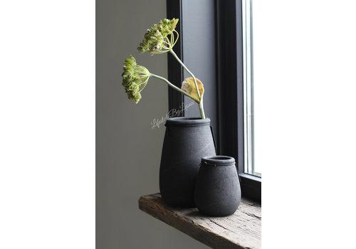 Ronde smalle hoge pot Black 24cm