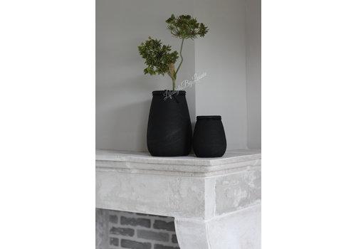 Ronde smalle hoge pot Black 14cm
