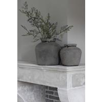 Stenen kruik Bas old grey 21 cm