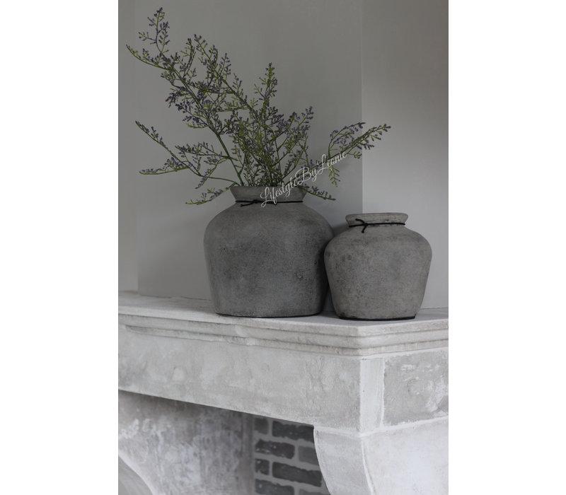 Stenen kruik Bas old grey 30 cm