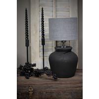 Zwarte stenen kruik lampvoet Bas 29 cm