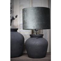 Velvet cilinder lampenkap Antraciet 25 cm