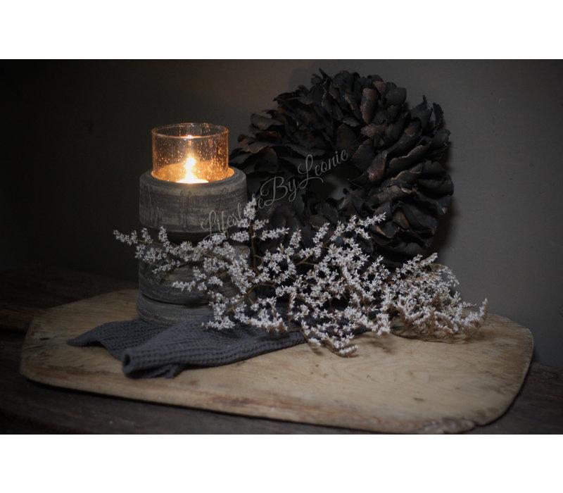 Krans Palm petal black 25 cm
