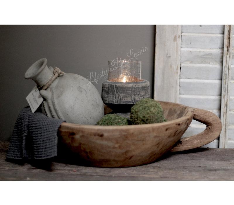 Aura Peeperkorn grijs stenen hangende oliekruik