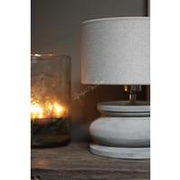 Lage houten baluster lampvoet Grey wash 23 cm