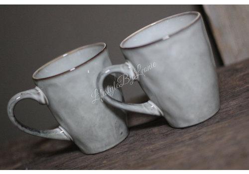 Sober koffiekopje Old grey 9 cm