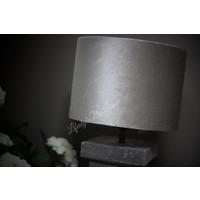 Cilinder lampenkap Velours Space dust 25 cm