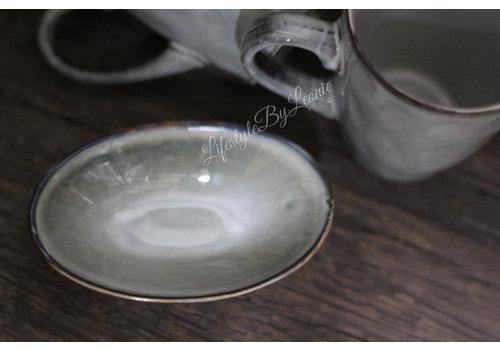 Sobere theezakjeshouder Old grey 9 cm