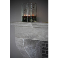 DUTZ cilinder windlicht met metall chips 25 cm