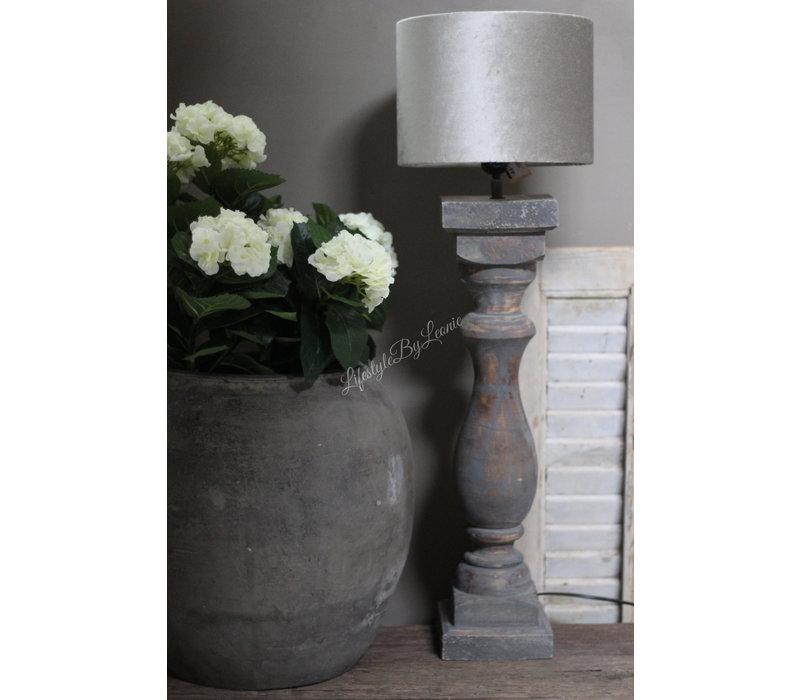 Namaak Hortensia op stam wit 70 cm