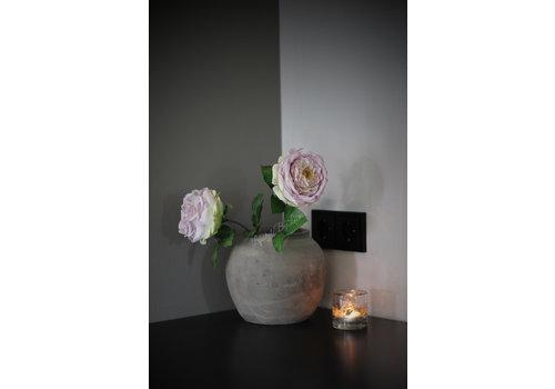 Zijden roos pastel paars XL