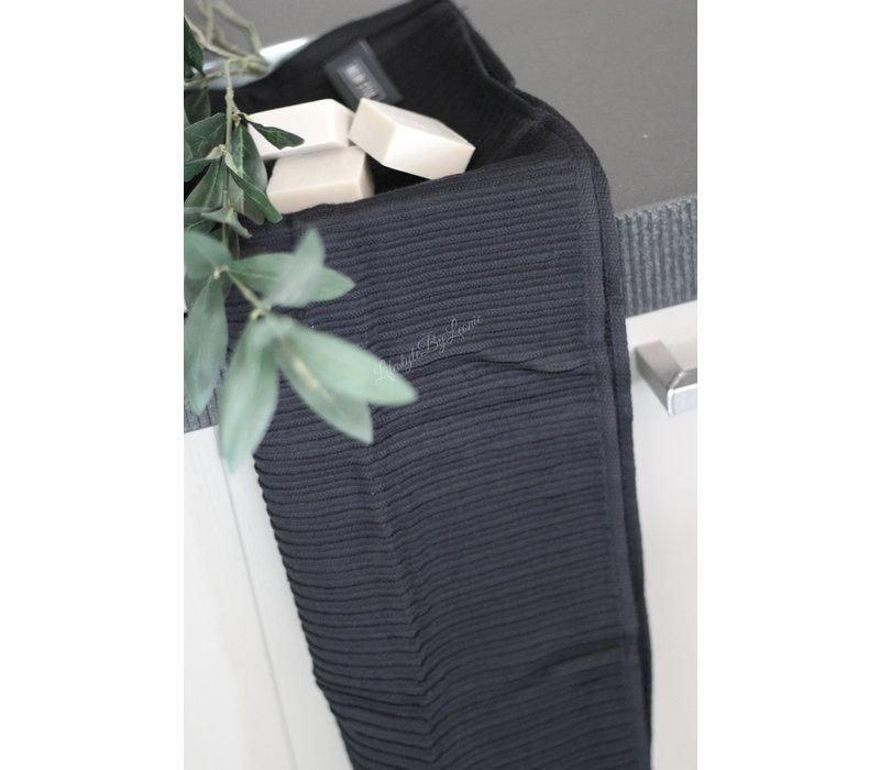 Mijn Stijl handdoek zwart 40 x 60 cm