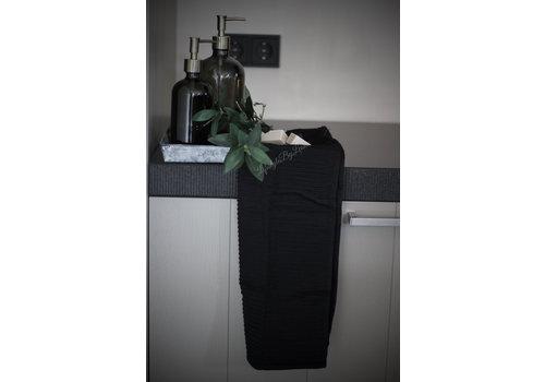 Mijn Stijl Mijn Stijl handdoek zwart 40 x 60 cm