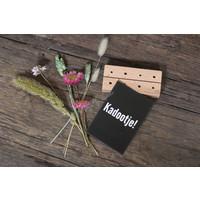 Mijn stijl cadeauset met houten kaarthouder