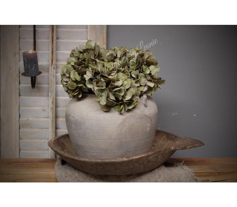 Zijden Hortensia tak sober green 61 cm