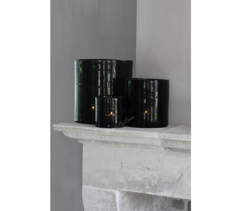 Brynxz windlicht steenslag black 11 cm