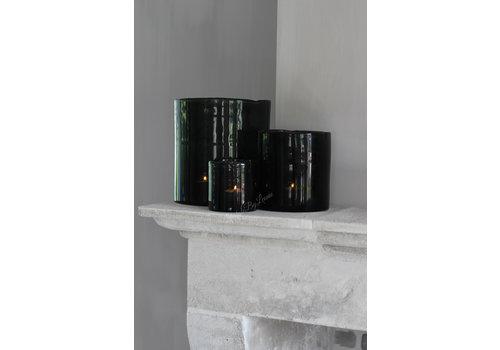 Brynxz Brynxz windlicht steenslag black 17 cm