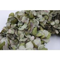 Zijden Hortensia krans sober green 46 cm