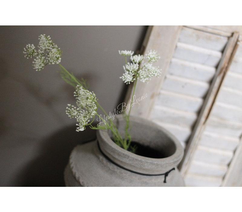 Namaak Queen Ann wit 3-bloemig 84 cm