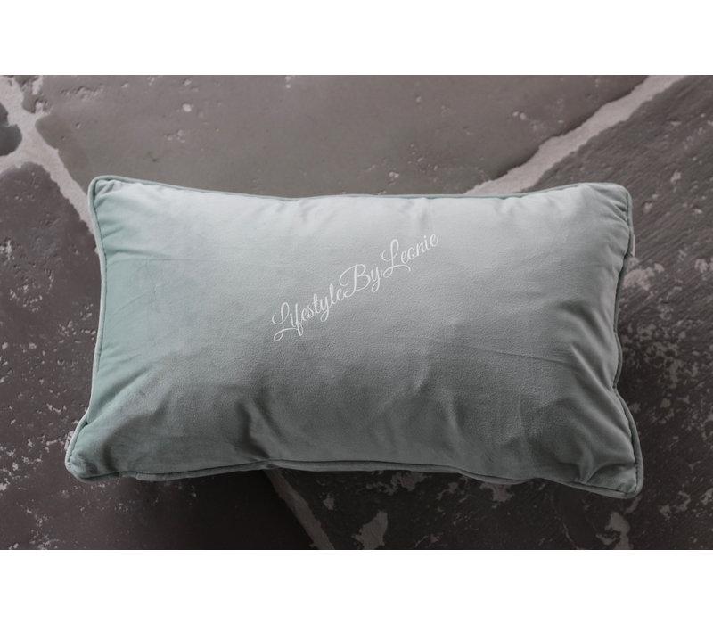 Velvet kussen Finn pastel green 50 cm