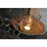 DUTZ conic windlicht helder bubbels 14 cm