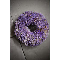 Gedroogde Statice krans Lavendel