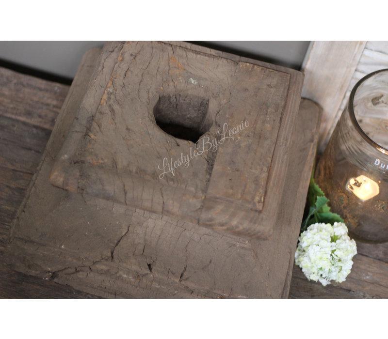 Authentieke houten poer XL